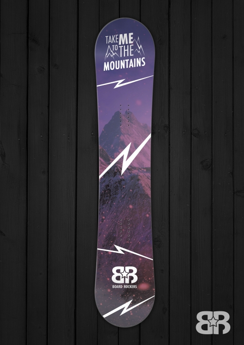 Take Me To the Mountains snowboard wrap