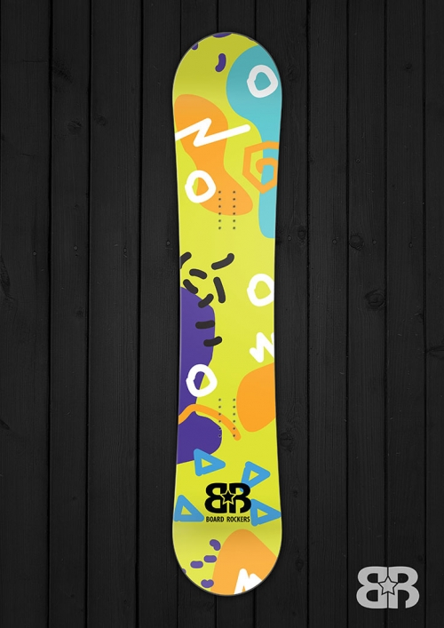 Moodle Doodle - Green Weem - Snowboard Wrap