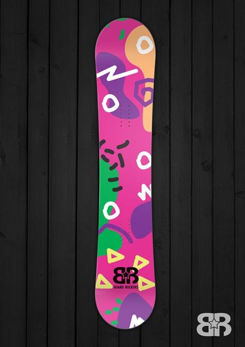 Moodle Doodle - Purple - Snowboard Wrap