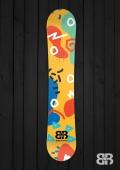 Moodle Doodle - Ohhrange - Snowboard Wrap