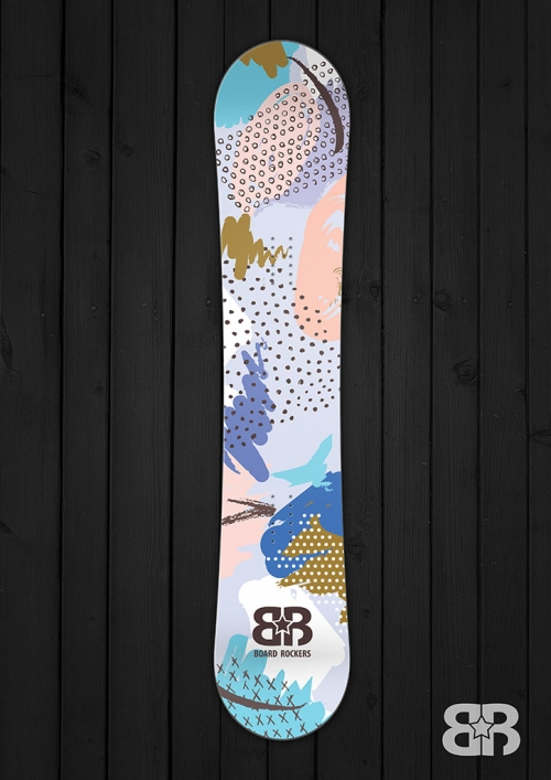Artista snowboard wrap by board rockers