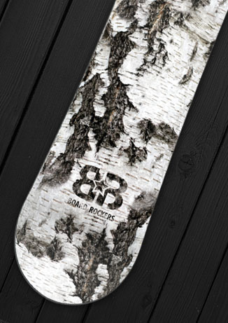 Birch Snowboard Wrap by Board Rockers