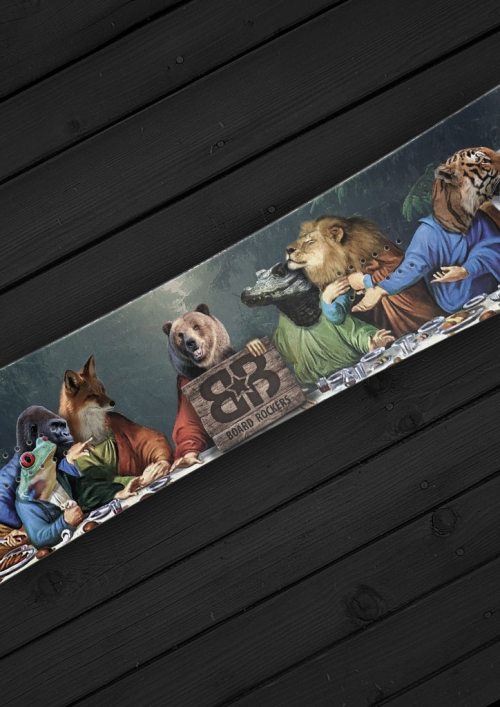 supper in the forest snowboard wrap