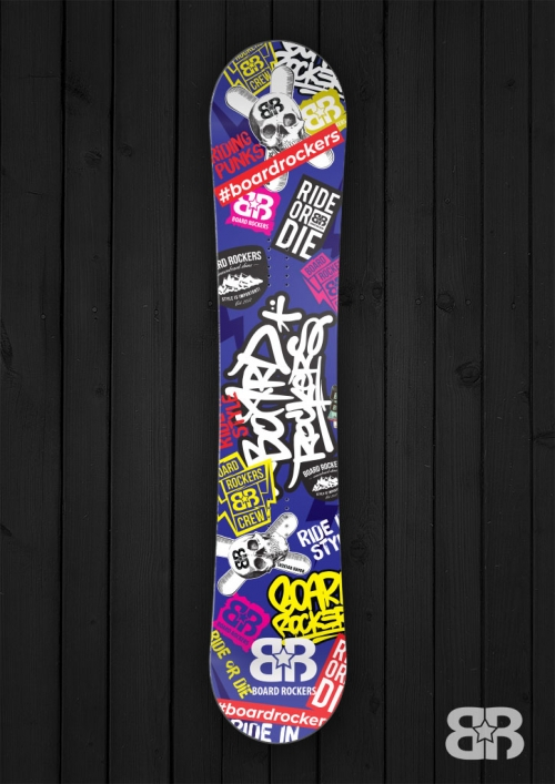 Board Rockers Sticky snowboard wrap