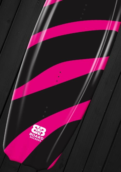 pink zebra kiteboard wakeboard wrap